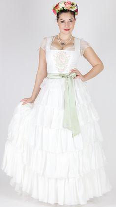 Sportalm Brautdirndl Virgen ecru German Wedding, Folk Fashion, Couture, Curves, Fashion Dresses, Flower Girl Dresses, Wedding Dresses, Medium, Baby