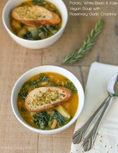 Potato, White Bean & Kale Vegan Soup