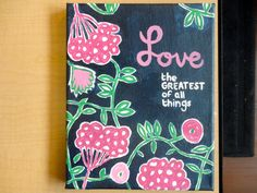lilly-inspired canvas #crafts #sorority