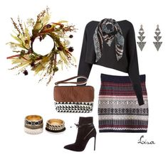 """Tribal for Fall"" by coolmommy44 ❤ liked on Polyvore featuring Crea Concept, Yves Saint Laurent, Aéropostale, Forever 21, House of Harlow 1960, Diane Von Furstenberg and fallstyle"