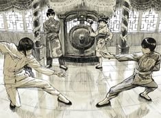 Tags: Fanart, NARUTO, Sketch, Rock Lee, Pixiv, Hyuuga Neji, Tenten, Might Guy, Fanart From Pixiv, Team 9, Pixiv Id 13396130