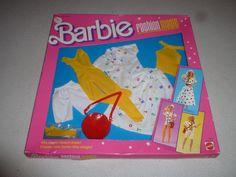 NEW IN BOX BARBIE FASHION MAGIC SET 4820 MATTEL 1987 NIB VINTAGE ALPHABET OUTFIT #Mattel