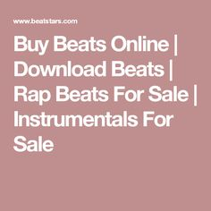 Buy Beats Online | Download Beats | Rap Beats For Sale | Instrumentals For Sale