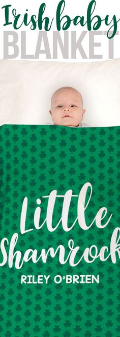 It's almost St. Patrick's Day and one of the best things about this day is a parade day. Keep your little one warm and cozy, all the while showing their Irish pride with this baby blanket.