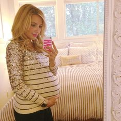 36 week selfie shot. can't believe only 4 weeks till her due date! Old @J.Crew sweater   @ban.do iPhone case. #Padgram
