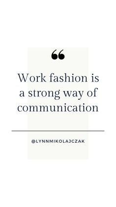 Work fashion is a strong way of communication More workwear inspiration? Follow @lynnmikolajczak on Instagram. Workwear Fashion, Work Fashion, Working Woman, Work Wear, Communication, Inspirational Quotes, Strong, Photo And Video, Suits