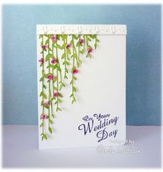 Trailing Roses wedding card by Cindy Gilfillan (frenziedstamper)