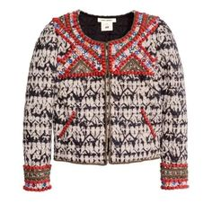 Isabel Marant x H&M Beaded Jacket NWT Sold out, brand new beaded jacket. Highly sought after size 8- this collection ran small so this fits like a small / medium! Isabel Marant Jackets & Coats
