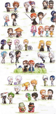 Cross-Over | anime | katekyo hitman reborn | bleach | kurosaki ichigo, rukia, kenpachi zaraki, kuchiki byakuya, renji abarai, inoue orihime, espada, uliquiorra, grimmjow, aizen, gin, nel, urahara kisuke