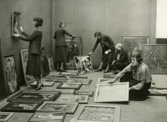 Curators, Whitechapel gallery, London, c.1930