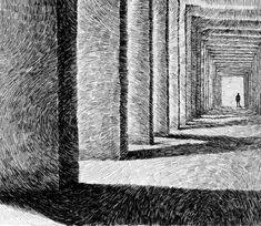 Fingerprint - Gallery - Black ink drawing - Encre - Nicolas Jolly