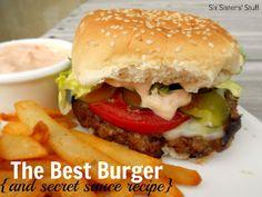 The Best Hamburger (and amazing secret sauce) on MyRecipeMagic.com #thebestburger #frysauce #secretsauce