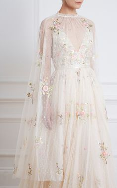 Petunia Sequin-Embroidered Tulle Cape by Needle & Thread Prom Dresses, Formal Dresses, Wedding Dresses, Gown Suit, Fantasy Gowns, Needle And Thread, Couture Dresses, Polyvore Outfits, Party