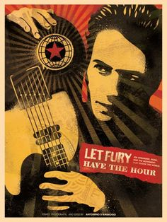 A poster for Let Fury Have the Hour, a movie about Joe Strummer from The Clash.