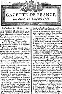 La gazette de France par Loîc &Nicolas