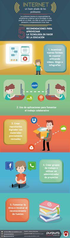 Internet: un buen aliado para los profesores #infografia #infographic #education   TICs y Formación