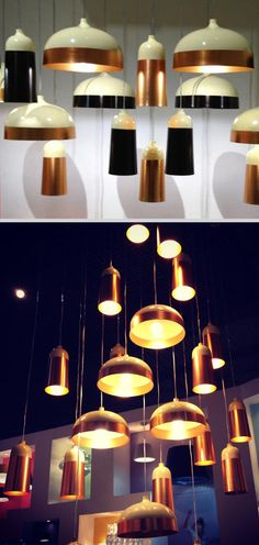 Corinna Warm - Glaze for Innermost. Copper and ceramic lights. Salone de Mobile 2013