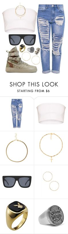 """Extra luv"" by liberhty ❤ liked on Polyvore featuring Frasier Sterling, NIKE, Quay, Forever 21, Givenchy and Chrome Hearts"