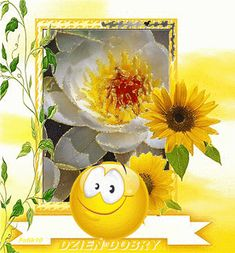 Wiersze,Gify Na Dzień Dobry ...: Gify na dzien dobry - kwiaty Emoticon, Cute Stickers, Good Morning, Painting, Round Faces, Motto, Prayer Of The Day, Prayers, Night