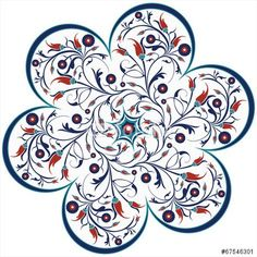 "vector traditional ottoman tulip spiral design"" Stok Görseller ve ..."