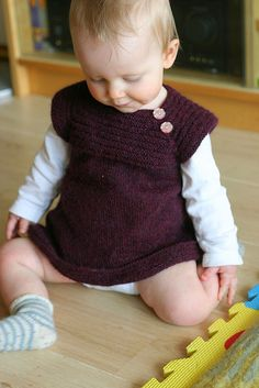 Such a pretty color!  Pattern on Ravelry- Little Sister's Dress