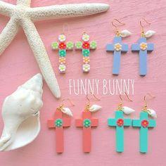 Happy Friday オーダーありがとうございました #funnybunny#handmade#アクセサリー#ピアス#イヤリング#樹脂ピアス#今日のコーデ#今日のコーディネート#今日のファッション#コーデ#夏#summer#beach#ビーチ#ビーチアイテム#ビーチファッション#ハンドメイド#ママ#mon#happy#life#湘南#金曜日#rayca_funnybunny#メキシカンクロス#クロスピアス#ウッドクロス#シェル#シェルピアス#フラワーピアス