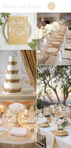 2017 Wedding Color Scheme Trends: Gold and Ivory | Wedding colour ...