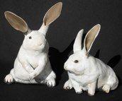 Ronnie Gould - Raku fired rabbits