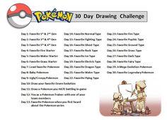 Pokemon 30 Day Drawing Challenge by OrangeCreamSwirl.deviantart.com on @deviantART