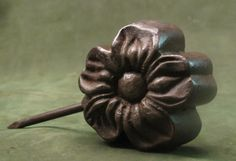 Antique Millinery Flower Making Iron Tool Mold picclick.com