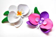 Cómo hacer unas orquídeas de goma eva / foamy   Manualidades