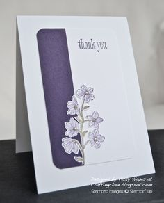 Stampin' Up ideas and supplies from Vicky at Crafting Clare's Paper Moments: Peaceful Petals in Purple - take two!