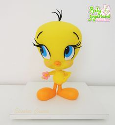 Bety' Sugarland - Cake Design by Elisabete Caseiro Birmingham, Cake Design, Tweety, Fictional Characters, Cakes For Men, Cakes For Boys, Cake Baby, Tiered Cakes, Candy Table