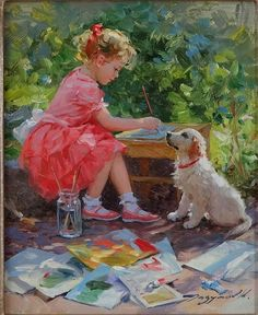 Painting Time by Konstantin Razumov (b.1974)
