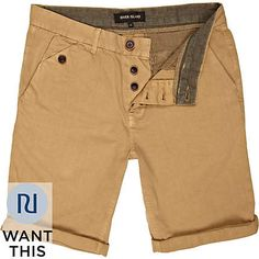 Cream Palm Tree Chino Shorts - Mens Shorts - Clothing | Fashion ...