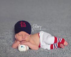 knitted baby baseball pants | Baby Boy team baseball cap and pant s, newborn photo prop ...