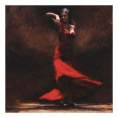Passion of Flamenco Print by Amanda Jackson at AllPosters.com
