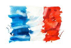 Flag of France, hand drawn watercolor illustration. Pencil Illustration, Watercolor Illustration, Graphic Illustration, French Illustration, France Flag, France Art, Uk Flag, Flag Art, Slytherin