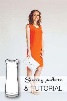Dress Pattern - Dress Sewing Patterns - Sewing Tutorials - Shift Dress Pattern - PDF Sewing Patterns - Sewing Projects - Sewing Patterns