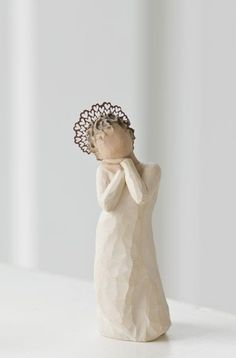 Angel Love - Last one! - Willow Tree Figurine - The Shabby Shed  Sentiment: So happy to love and be loved