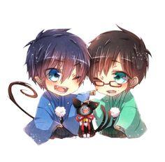 Chibi Rin & Yukio #blue exorcist