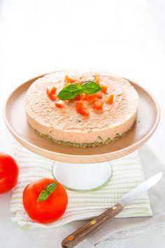 Cheesecake cru tomate-basilic