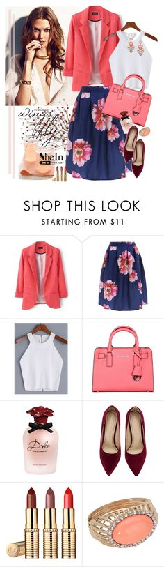 """CAMI-TOP SheIn***"" by ksenia-lo ❤ liked on Polyvore featuring Gucci, MICHAEL Michael Kors, Dolce&Gabbana, Sheinside and shein"