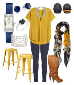 """Brighten Your Blues"" by melissa-alanis on Polyvore featuring Me & Kashmiere, Ace Bayou, maurices, Tory Burch, Bling Jewelry, H&M, Panacea, Tiffany & Co. and Steve Madden"