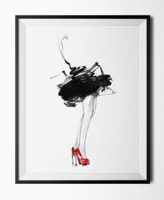Red Shoes - Poster (30x40 cm)