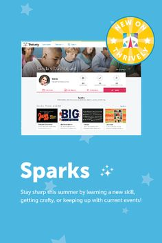 "'Bored' is not in our vocabulary! Find your *Spark* in our collection of arts & #craft projects, creative writing tips, teen #recipes, and even outdoor games to learn or just have fun over the summer :) Head to your dashboard to check out our brand spanking new ""Sparks"" feature on #Thrively! #SummerLearning"