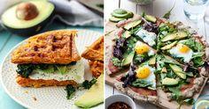 Lyxig frukost med avokado och ägg