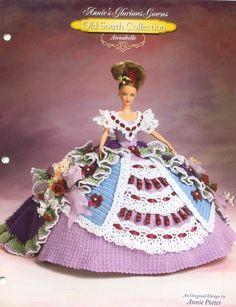 Vestido de Boneca de Crochê - / Dress of Crochet Hooks Doll -