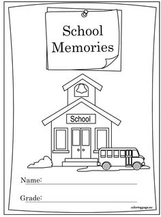 End Of School Year Memory Book Coloring Page