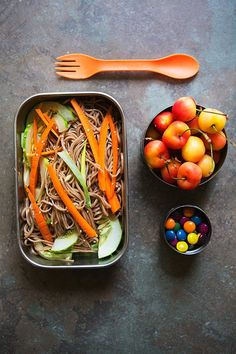 Cold Sesame Soba Noodle Salad #recipe via eHow.com #schoollunch